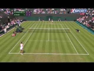 Wimbledon 2013 / 1-й круг / Анна Шмидлова (Словакия) – Саманта Стосур (Австралия) 25.06.2013